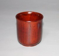 湯呑 欅杢 直径 7.5cm 高さ 8cm 本漆塗り