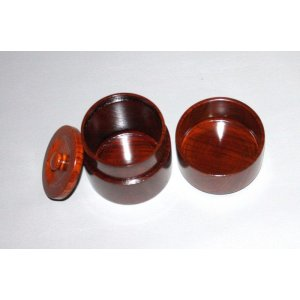 画像3: 茶筒 欅杢 縦 8cm 横8cm 高さ 9.2cm