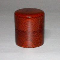 茶筒 欅杢 縦 8cm 横8cm 高さ 9.2cm