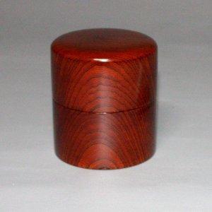 画像1: 茶筒 欅杢 縦 8cm 横8cm 高さ 9.2cm