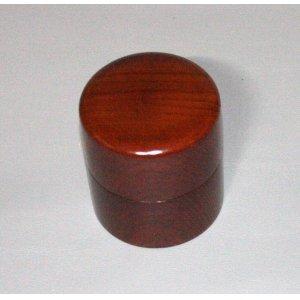 画像2: 茶筒 欅杢 縦 8cm 横8cm 高さ 9.2cm