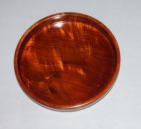 丸盆 栃縮杢 直径 23cm 高さ 3.5cm 本漆塗り