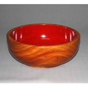 画像1: 木地鉢【欅/板杢】直径31cm(内寸28cm)高さ11.5cm(深さ9.5cm)漆塗仕上