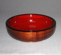 木地鉢【栓/板杢】直径28cm(内寸25.5cm)高さ8.5cm(深さ6.8cm)漆仕上